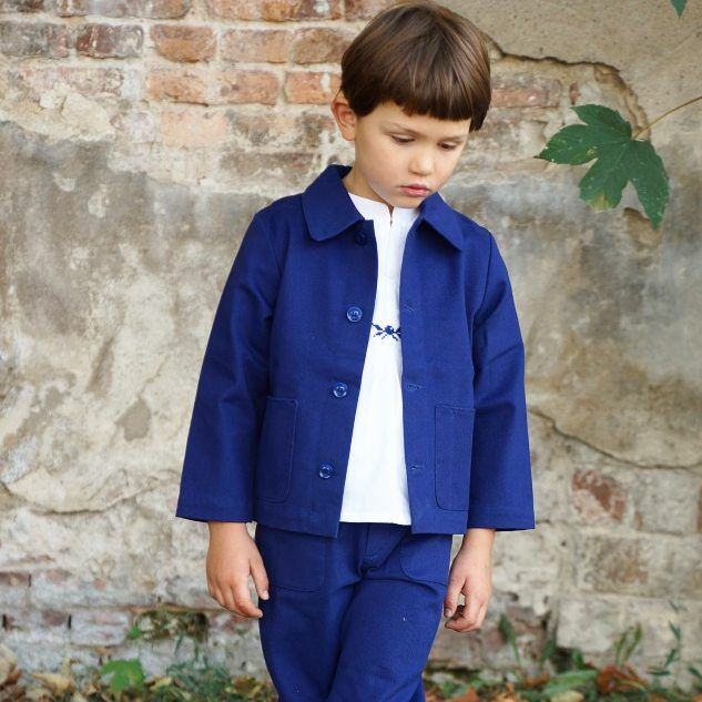 Little indigo outfit. Very soon on our webshop 😊💙 #indigowear #colchikjacket #colchiktrousers #colchikshirt #workwearforkidsandadults #workwearforkids #vintageworkwear #aboutcolchik #vestedepeintre #vestedepeintrepourenfant #vintagestyle #ethicalfashion #sustainablefashion #buylessbuybetter #colchik