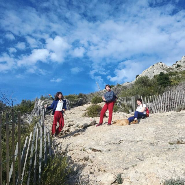 Climbing in red and blue.  #aboutcolchik  #outdoorkids  #saintevictoire  #provence