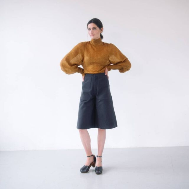 """Do you like it ? We are already crazy about our new grey, called """"stone"""" Check our online shop www.colchik.com #aboutcolchik #colchikstone #colchikculottes #greylover #womanfashion #womanstyle #retrotouch #retrostyle #culottes #jupeculotte #womanwithstyle #ruggedstyle #lessismore #simplicity"""