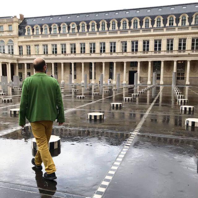 A Colchik jacket in Paris 💚  #aboutcolchik  #colchikjacket  #colchikgrass  #vestedetravail  #formen  #fashionformen  #uniform  #buren  #slowfashion  #ethicalfashion