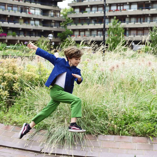 """Our new green color, called """"grass"""", will launched ob saturday 💚💚💚 stay tuned 🍀 📷 @iammichellemarshall 👏👏👏 #aboutcolchik  #colchiktrousers  #colchikgrass  #colchikjacket  #workwearforkids  #slowfashion  #boywithstyle  #buyoneplantone  #buylesschoosewell"""